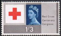 GB SG643 1963 Red Cross Centenary Congress 1/3d mint FILLER